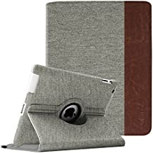 Fintie Giratoria Funda para iPad 4/3/2 - Rotación de 360 Grados Case Cover Carcasa con Función de Auto-Reposo/Activación para Apple iPad 4/iPad 3/iPad 2, Denim Gray