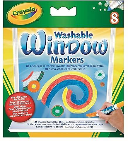 Crayola - 58-8165-E-000 - Loisir Créatif - 8 Feutres pour Fenêtres Lavables