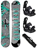 AIRTRACKS SNOWBOARD SET - BOARD STRIPES WIDE 150 - SOFTBINDUNG STAR L - SB BAG