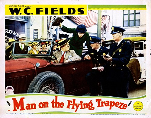Man On The Flying Trapeze Poster Drucken (71,12 x 55,88 cm) (Trapez Drucken)