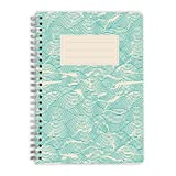 purepaper Notizblock   Notizbuch   Spiralblock   Bullet Journal   Mint Waves, DIN A5, Softcover, 120g, gepunket, dotted, punktkariert, dot grid, 120 Seiten