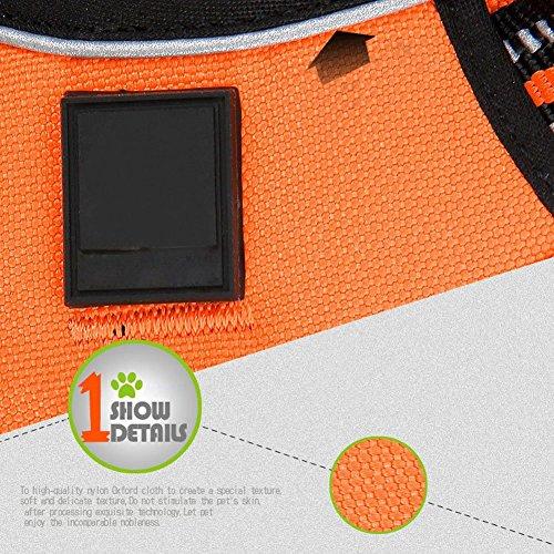 REXSONN® Ultra-Soft Hundegeschirr Softgeschirr Brustgeschirr Hunde Geschirr Sicherheitsgeschirr pet dog vest Harness - 5