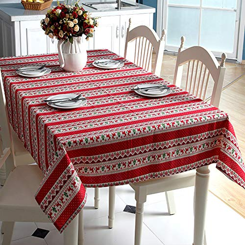 Gris d JUNGEN Mantel de Mesa de Rectangular Mantel Estampado de Navidad Mantel Lavable Mantel de Tela para Cocina Comedor Salon Exterior Size 100X140cm