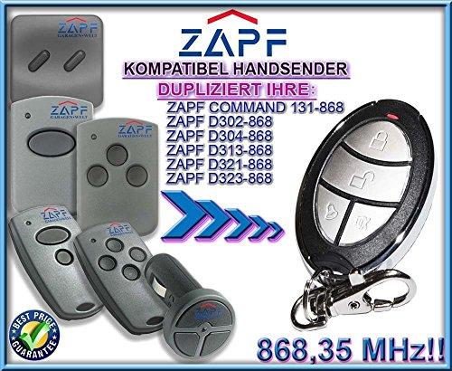 ZAPF command 131 / D302 / D304 / D313 / D 321 / D323 kompatibel handsender, klone fernbedienung, 4-kanal 868,3Mhz fixed code. Top Qualität Kopiergerät!!! - Board Torantriebe Control