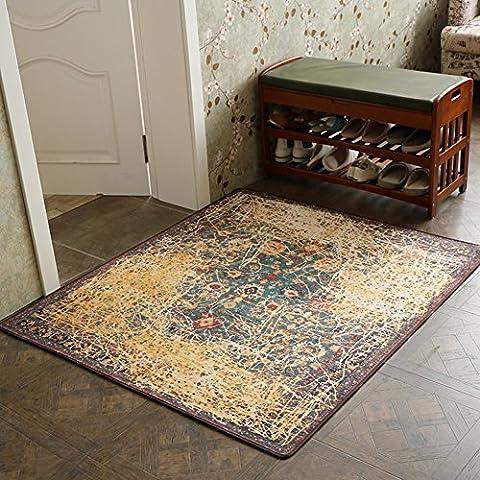 Geometric muster american muster schlafzimmer wohnzimmer in die tür pad tür teppiche matten-E 90x100cm(35x39inch)