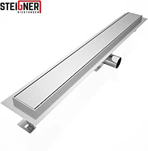 """90/cm 1/pezzi in acciaio inossidabile modello /""""Amsterdam/"""" SDR90 Steigner 52819073 griglia di scolo per doccia"""