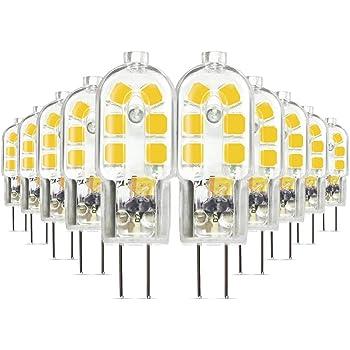 180 lm 360 /° Abstrahlwinkel NuLoXx 10er Pack LED Stiftsockellampe G4 COB 2W//840 DC-12V 4000K neutralwei/ß