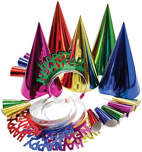 Creative Converting New Year 's Party-Set für 10, farbenreiche