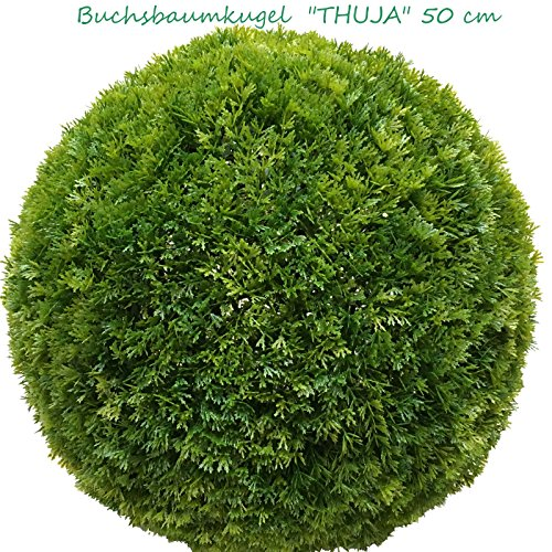 künstliche Thuja Kugel, ca. 48-50 cm, edel
