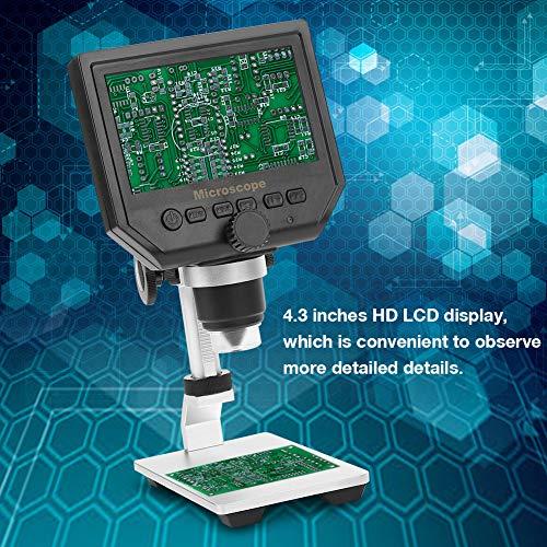 Acogedor Microscopio Digitale, Microscopio Elettronico, 1-600X 4.3 LCD Display Elettronico da G600 Magnifier Portatile per Microscopio Digitale, 100-250V(A)