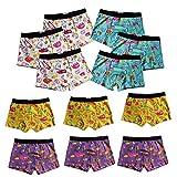Pesail 4-8-12er Pack Jungen Boxershorts Baumwolle Kinder Kids Unterhose Retropants Bio Gr.110-122,128-134,140-146 (12er, 110-122)