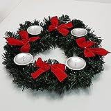 Adventskranz für Kerzen Advent Weihnachts Kerzen Kranz mit Schleifen Tisch