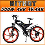 Addmotor® Hithot H2 Pedelec EBike Elektro Fahrrad 500W 48V Bafang Rear Hub Motor 10.4AH Samsung Batterie DAS Ebike...