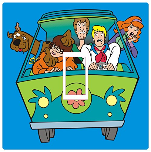O Light Switch Cover Vinyl Sticker Childrens Room Kids Playroom HD PRINT MYSTERY MACHINE by Smarts-Art (Light Switch Cover)