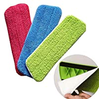 Microfiber Spray Mop Replacement Heads Pads Floor Cleaning Cloth Paste to Replace Cloth Household Cleaning Mop Accessories - 3Pcs Set