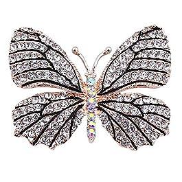Belons, elegante spilla a forma di farfalla con diamanti sintetici in cristallo, per feste nuziali, da donna e ragazza…