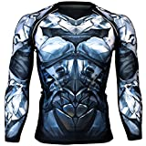 Btoperform Herren Damen MMA Running bedruckt Kompression Shirt Long Sleeve Top FX-135T-XL