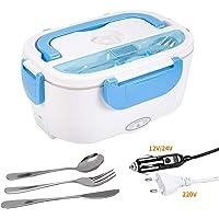 VLVEE gamelle chauffante,USB Rapide Lunch Box chauffante Electrique Hermétique 12V/24V/220V pour Voiture, Maison