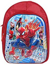 408a559a5980 Kids Trends Polyester 16 Inches Red Spider Man 3D Character Embossed School  Bag