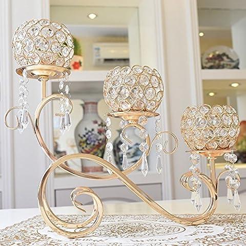 Sun lamps- Continental creativo Lega spara pendente lanterna Alberghi Candlestick decorazione domestica ( colore : Oro )