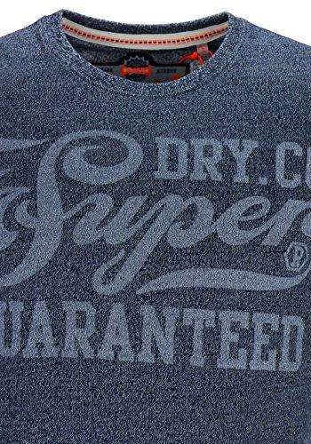 SUPERDRY Damen T-Shirt Guaranteed Tee blue (Navy Grit - KUX )
