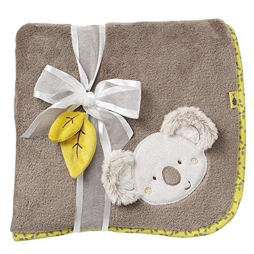 Fehn 064193 Kuscheldecke Koala / Kuschelige Schmusedecke für Babys und Kleinkinder ab 0+ Monaten - zum Kuschen, als Krabbelunterlage oder Schnuffeltuch, Maße: 100x75cm