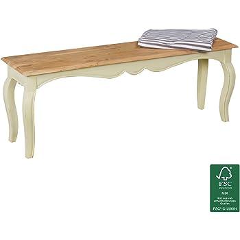 FineBuy Vintage Esszimmerbank Massiv 120 X 45 X 35 Cm | Moderne Sitzbank  Aus Mango Massivholz | Opium Küchenbank Rechteckig In Weiß Holz |  Massivholzbank ...
