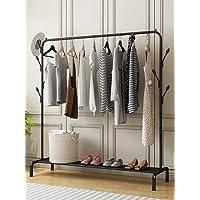 Lukzer 1 Pc Multipurpose Clothes Rack with Bottom Shelves, Closet Organizer Coat Hanger/Freestanding Clothes Garment Stand