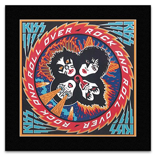 KISS - Rock And Roll Over Matted Mini Poster - 18.6x18.6cm -