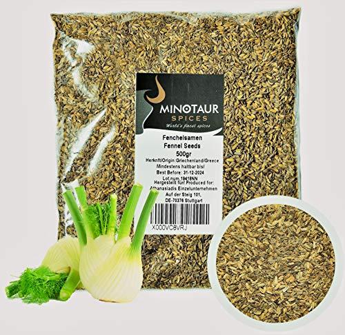 Minotaur Spices | Fenchelsamen | 2 X 500g (1 Kg) | Fenchel Samen ganz Tee