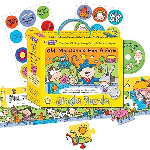 Musik-Puzzle Old MacDonald: inklusive Puzzle/Notenbuch/Sticker (Musical-bus Spielzeug)
