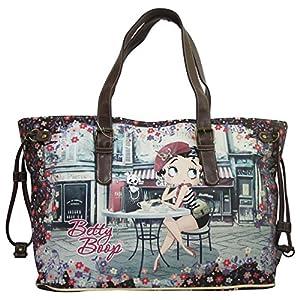 Betty Boop Cafè Bolso por Mujer al Hombro Shopper Tote