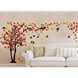 Global Graphics Home Living Room Décor Colorful Wall Sticker Decal Sticker (PVC Vinyl Multicolor)