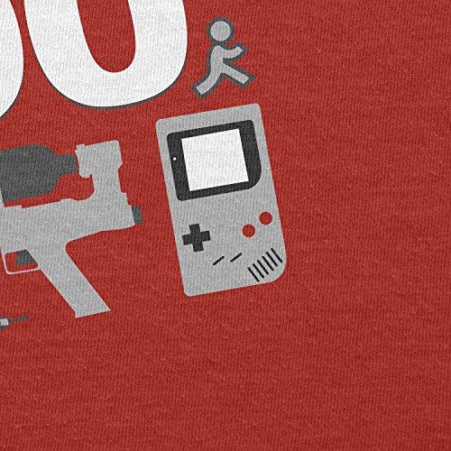TEXLAB - I Survived The 90's - Herren T-Shirt Rot