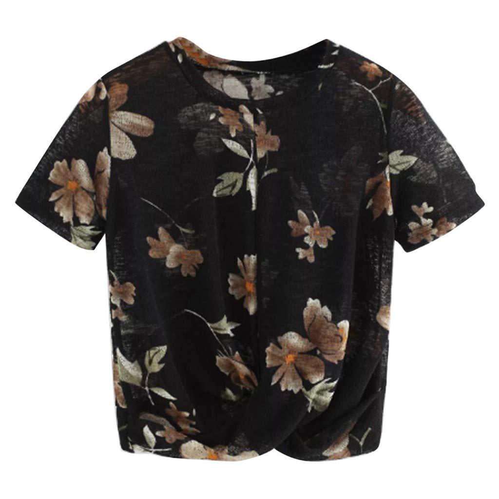 3fa09acf38eac9 HCFKJ T-Shirt da Donna Casual Estiva con Stampa Manica Corta o-Collo Manica  Corta Estiva