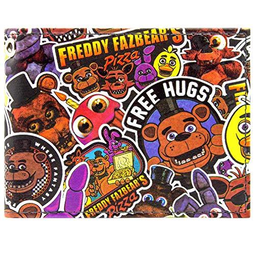 Freddy Fazbear Fazbear Pizza Schwarz Portemonnaie - Freddy Fazbear Kostüm Kinder