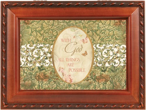 With God All Things Are Possible Music Box By Cottage Garden Collections