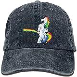 Photo de DSFIOWX Unicorn Fuck You Casquette de Baseball Ajustable Unisexe Papa Chapeau lavé Arc-en-Ciel par DSFIOWX