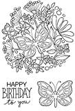 Woodware Clear Magic Butterfly Posy Stempel Set, Polymer, 21x 11x 0,6cm -