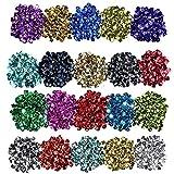 Lvcky Courroie Paillettes Bulk Tasse Sequins Paillettes irisé pour la Confection de DIY Arts Crafts, 6mm, 100Gram (20Couleurs)