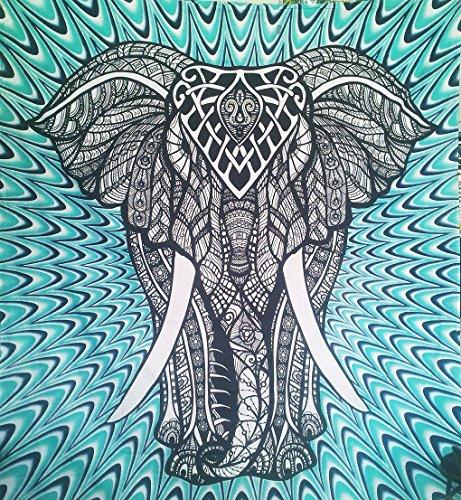 Indio tapices elefante Mandala Hippie Tapiz indio tradicional manta playa manta decorativo College dormitorio bohemio colgante de pared Boho arte