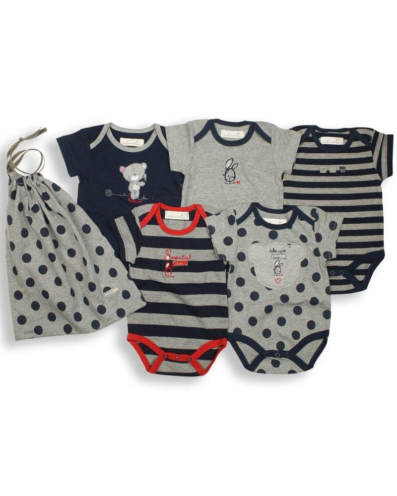 The Essential One – Paquete de 5 Body para bebé Azul Marino ESS16
