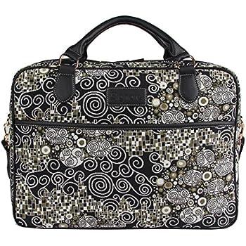 "Signare mallette sac ordinateur portable tapisserie 15.6"" mode dames Gustav Klimt Kiss (le baiser)"