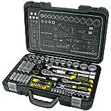 Proteco-Werkzeug® Profi-Steckschlüsselsatz Steckschlüsselkasten 1 4 und 1 2 Zoll 60 Teile Ratschenkasten Knarrenkasten