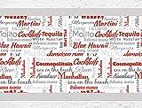 I-love-Wandtattoo b-10134 Küchenbordüre Cocktails - Schriftzüge Party Deko Partykeller Bordüre Küche Deko Wanddeko