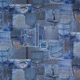 Fabulous Fabrics Dekostoff Ottoman Jeans - blau - Meterware