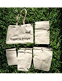 Elegant Eco-Friendly Reusable Shopping Bag/Veggie To Fridgie Bag/Vegetables Bag/Bag With Compartments - Launch...