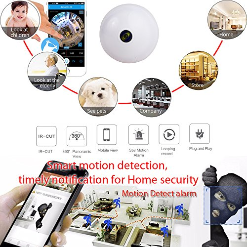 CATBO 360 Degree IP Security LED Bulb Camera Home Security