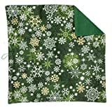 Best George Mens Jackets - Green Pocket Square White & Gold Snowflake Design Review
