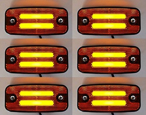camion camionnette caravane Keenso Lot de 10 feux de position lat/éraux 6 LED 24 V pour camion